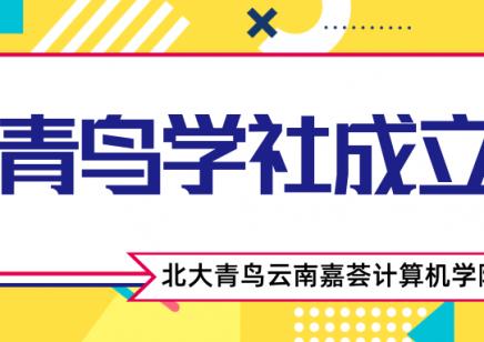 2020年第一届青鸟学社成立仪式北大青鸟云南嘉荟计算机学