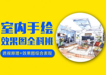 上海室内手绘设计培训 想要提升薪资 从手绘做起